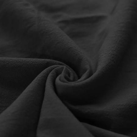 Coton lavé coloris noir