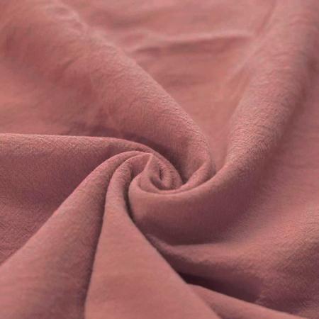 Coton lavé coloris argile rose