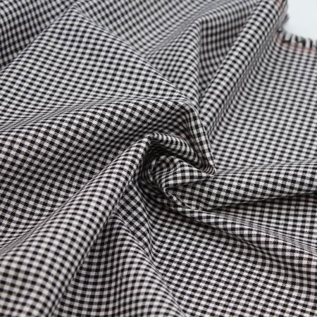 Coton vichy carreaux noir et blanc 2.7mm