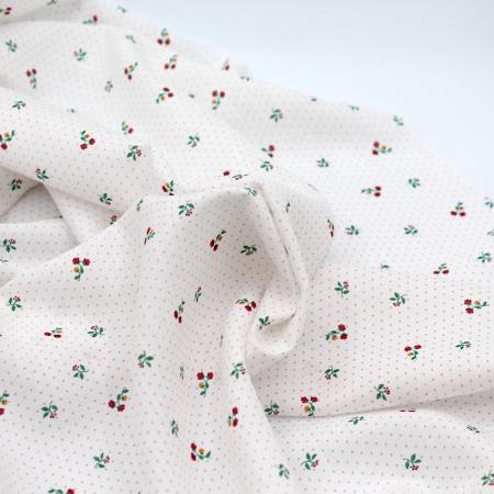 Tissu coton et viscose imprimée fleuri
