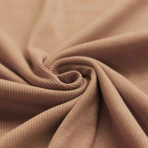 Jersey coton côtes fines coloris pêche nude