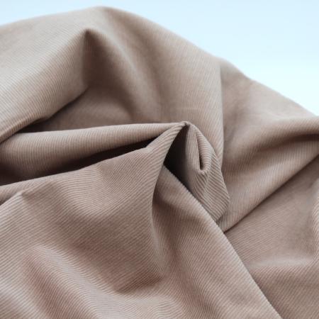 Velours milleraies coton organique coloris praline clair