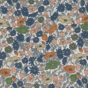 Tissu Liberty poppy forest bronze