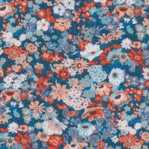Liberty Thorpe Hill coloris B bleu, orange