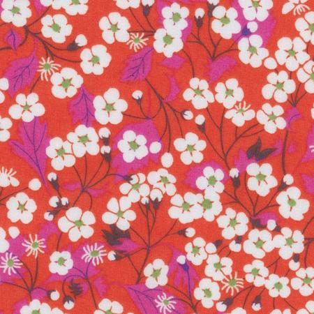 Liberty Mitsi B rouge Hibiscus