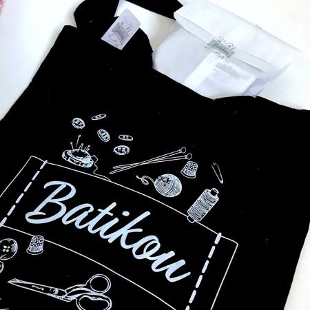 Tote Bag en coton couture créative Batikou