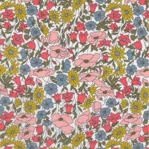 Tissu Liberty poppy and daisy coton tana lawn