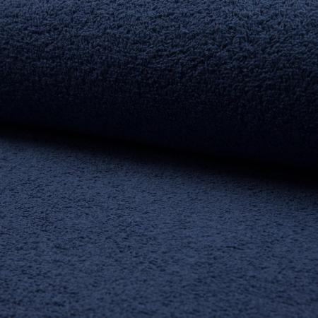 Coton éponge coloris bleu denim