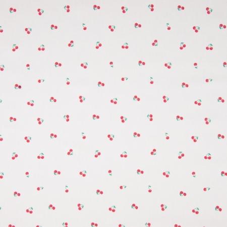 Coton popeline imprimé cerises