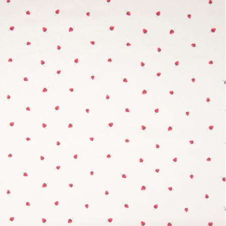 Coton popeline imprimé petites fraises