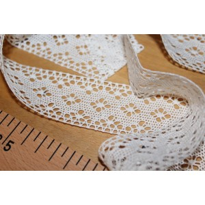 Dentelle Made in France Vintage coloris BLANC