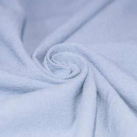 Coton lavé coloris bleu ciel