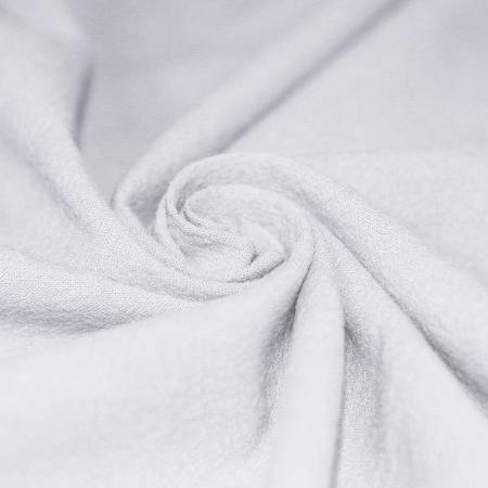 Coton lavé coloris blanc