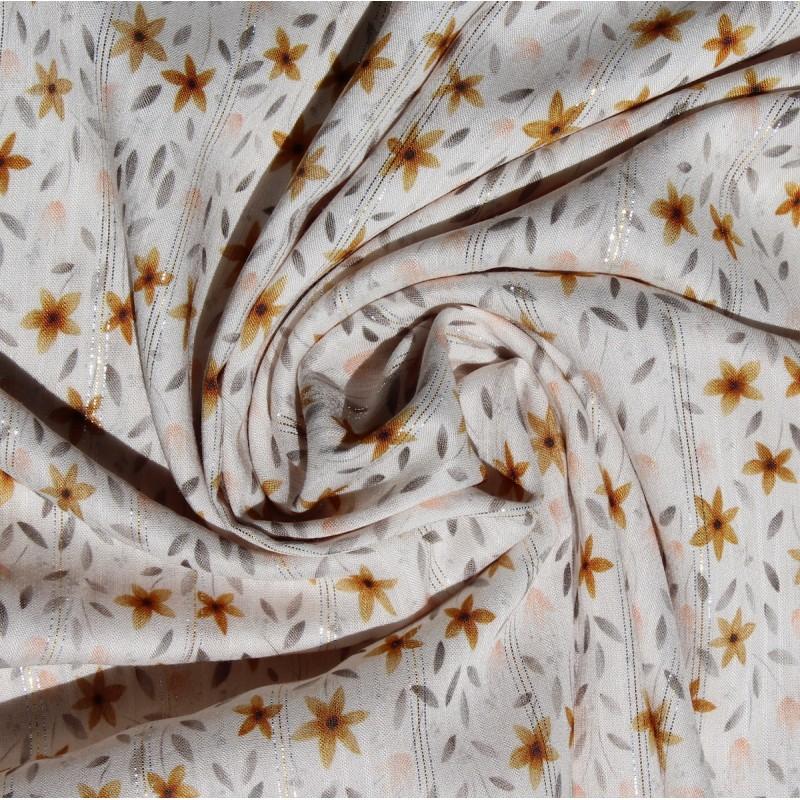 Viscose rayée lurex coloris exclusif By Minimel pour Batikou