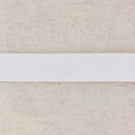 Elastique plat 20mm 2cm blanc