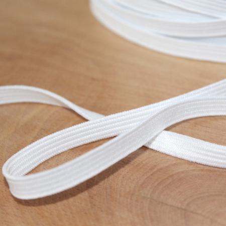 Elastique plat souple 7mm blanc
