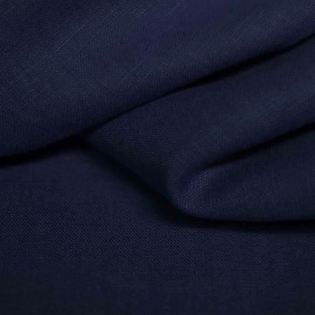 Lin lavé coloris bleu marine