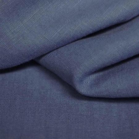 Lin lavé coloris bleu jean