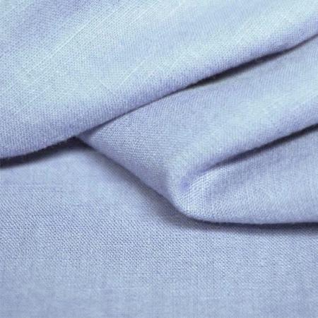 Lin lavé coloris bleu layette