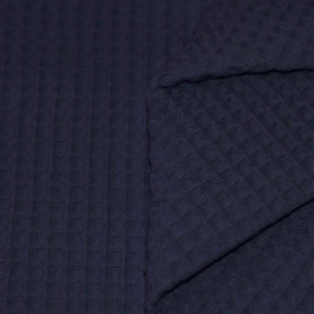 Coton nid d'abeille coloris bleu marine