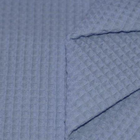 Coton nid d'abeille coloris bleu jean