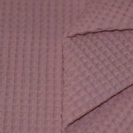 Coton nid d'abeille coloris rose ancien