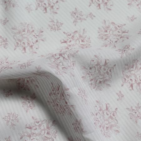 Tissu coton organique imprimés fleurs rose