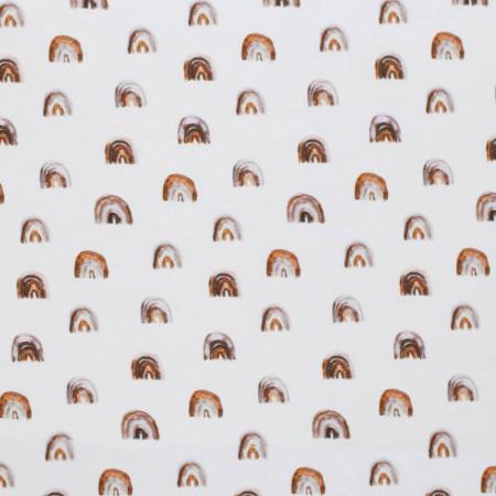 Jersey de coton arc-en-ciel coloris argile