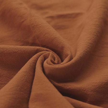 Coton lavé coloris roux