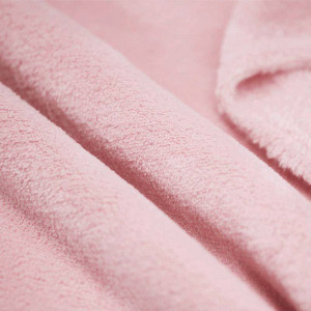 Polaire doudou coloris rose nude