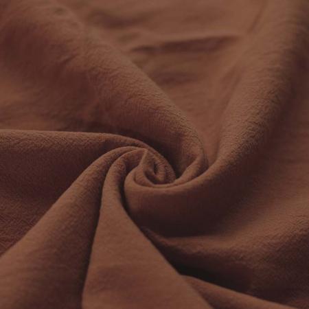 Coton lavé coloris châtaigne