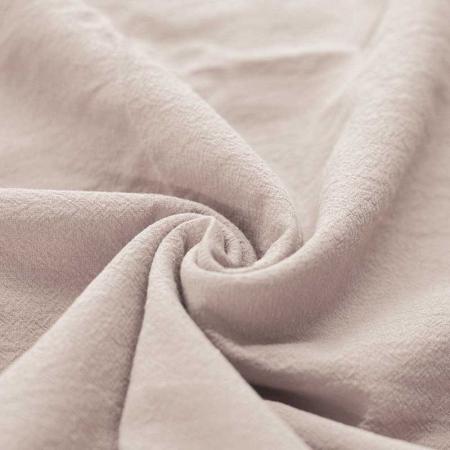 Coton lavé coloris grège