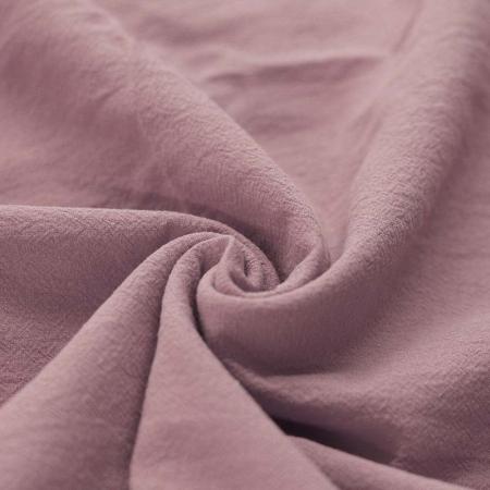 Coton lavé coloris rose ancien