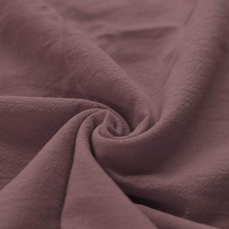 Coton lavé coloris bois de rose