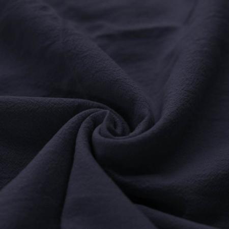 Coton lavé coloris bleu marine