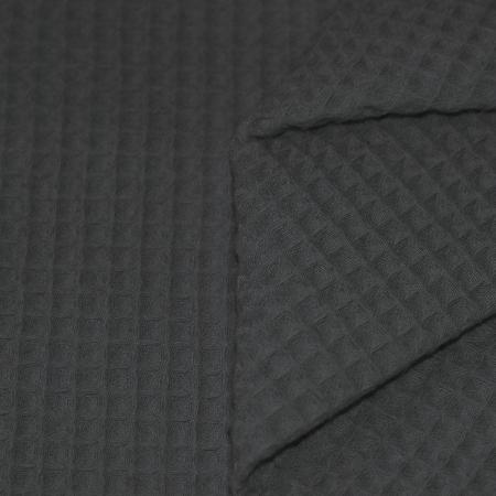 Coton nid d'abeille coloris gris anthracite