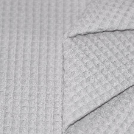 Coton nid d'abeille coloris gris perle