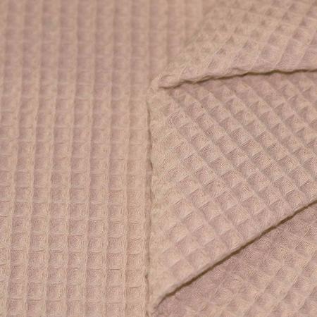 Coton nid d'abeille coloris taupe clair