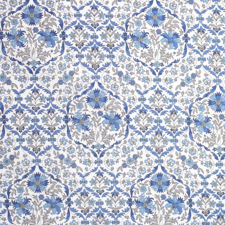 Tissu Liberty Piccacilly poplin Lord Leigthon bleu