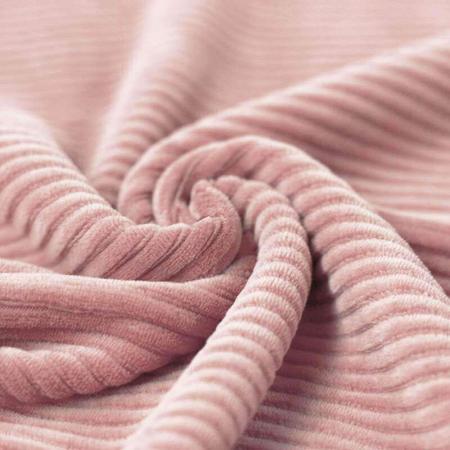 Velours grosses côtes coton coloris rose nude