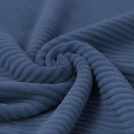Velours grosses côtes coton coloris jean clair
