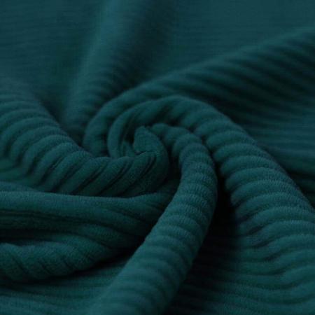 Velours grosses côtes coton coloris vert bouteille