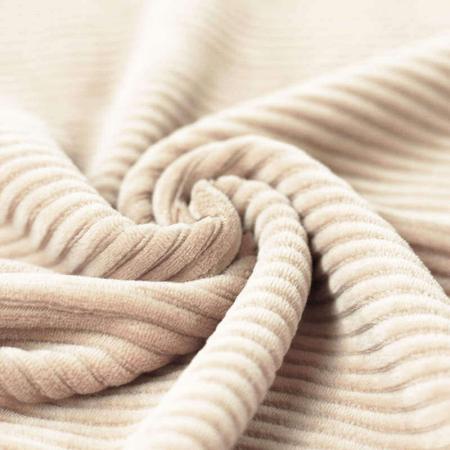 Velours grosses côtes coton coloris beige clair