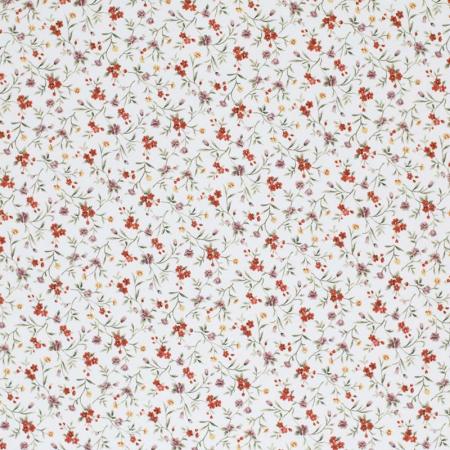 Coton popeline imprimé fleuri