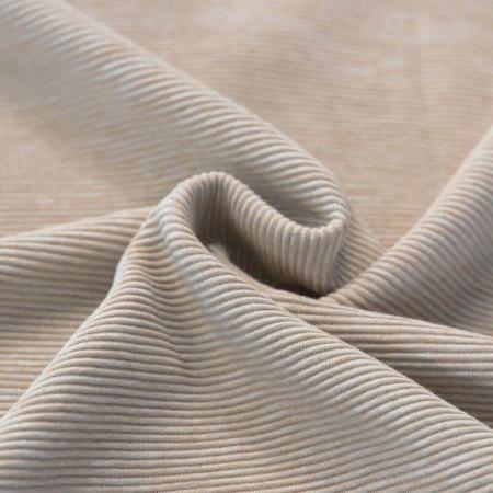 Jersey à côtes coloris beige chiné