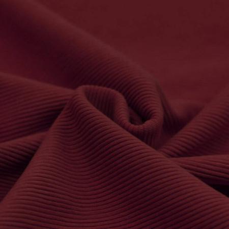 Jersey à côtes coloris bordeaux