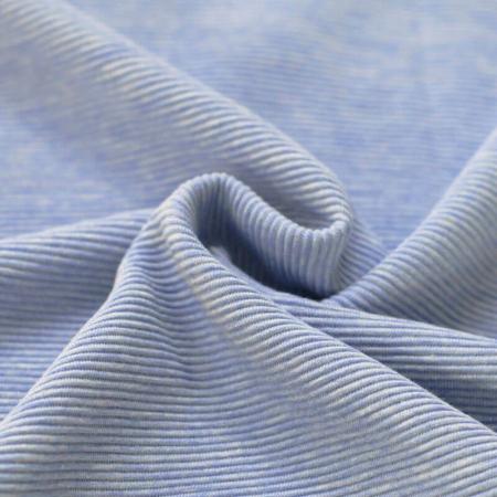 Jersey à côtes coloris bleu chiné