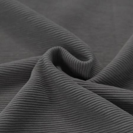 Jersey à côtes coloris gris anthracite