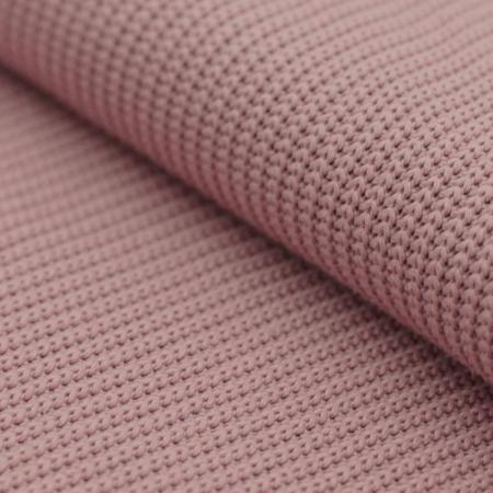 Tissu tricot point de maille rose ancien
