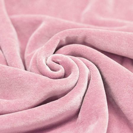 Velours nicky coloris rose clair